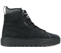 Perforierte High-Top-Sneakers im Used-Look