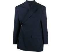 wrap-front oversized blazer