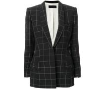 square print blazer