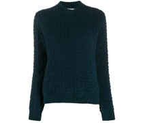 knitted FF pattern crew neck jumper