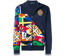 Sweatshirtjacke mit Flaggenmuster
