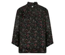 v-neck floral blouse