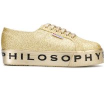 'Superga' Sneakers mit Glitzereffekt