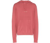 red logo print hooded sweatshirt