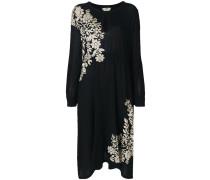floral jacquard knit dress