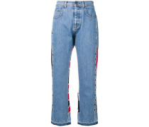 Jeans in Colour-Block-Optik