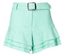 Shorts mit ausgefranstem Saum