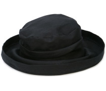 slouched curved brim hat