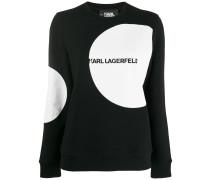 Gepunktetes 'Karl' Sweatshirt mit Logo