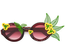 Sonnenbrille mit Blumenmotiv