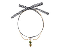 Halskette mit Ananas-Anhänger