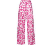 carnation jacquard trousers