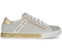 glitter sole low-top sneakers
