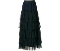 long tulle ruffled skirt