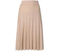 shimmer pleat4ed midi skirt