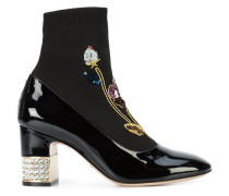 'Candy' embroided ankle boots