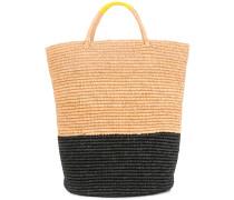 maxi colourblock basket tote