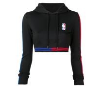 X NBA Cropped-Kapuzenpullover