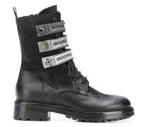 Stiefel mit Metallic-Riemen