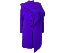 hooded midi coat