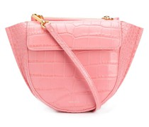 Hortensia Croco Mini tote bag