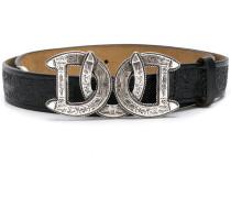 engraved horse-shoe buckle belt