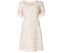 Bouclé-Kleid mit rundem Ausschnitt