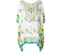 printed flared kaftan