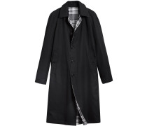 Reversible Gabardine and Tartan Wool Car Coat