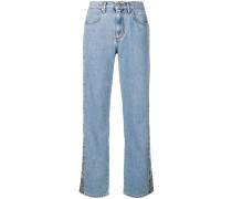 Jeans mit Streifen in Schlangenleder-Optik