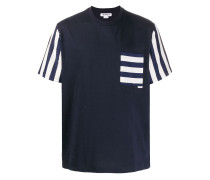 T-Shirt mit gestreifter Tasche