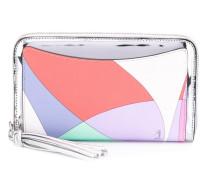 colour block zip wallet