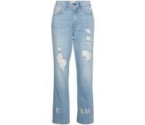 'Le Emroidery' Boyfriend-Jeans
