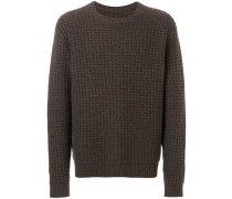 Wollpullover mit Webmuster