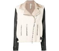 two-tone shearling jacket