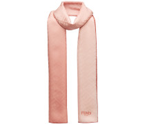 two-tone embossed logo scarf