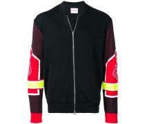 embroidered logo bomber jacket