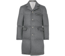 Tonal Grosgrain Down-Filled Classic Cashmere Chesterfield Overcoat