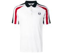 tri-stripe sleeve ribbed polo shirt
