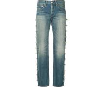 side pearl jeans long length