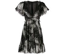 Ausgestelltes Kleid mit Stern-Print