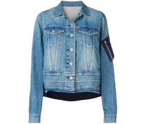 Jeansjacke im Kontrast-Look