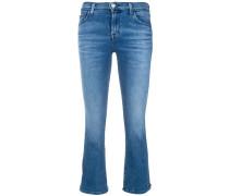 Bootcut-Jeans mit gekürztem Schnitt