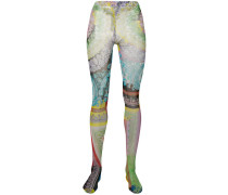 Leggings mit Barock-Print