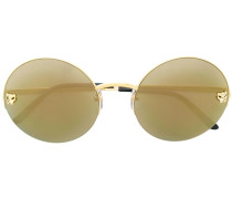 Panther round framed sunglasses