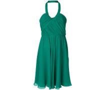 halterneck chiffon dress