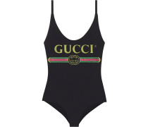 Sparkling swimsuit with  logo