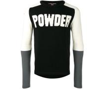 """Pullover mit """"Powder""""-Slogandesign"""