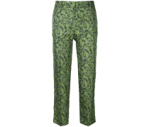 bootcut floral print trousers