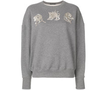 Sweatshirt mit AMQ-Stickerei
